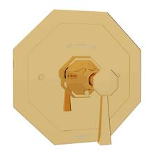 Deco Thermostatic Trim Plate without Volume Control - English Gold with Metal Lever Handle