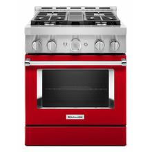 View Product - KitchenAid® 30'' Smart Commercial-Style Gas Range with 4 Burners - Passion Red