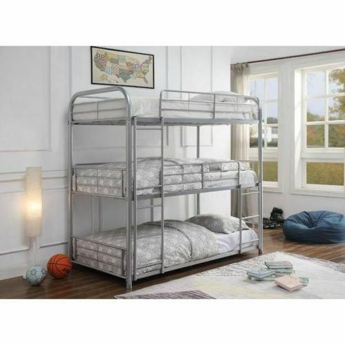 ACME Cairo Triple Bunk Bed - Twin - 38100 - Silver