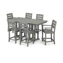View Product - Lakeside 7-Piece Counter Set in Slate Grey
