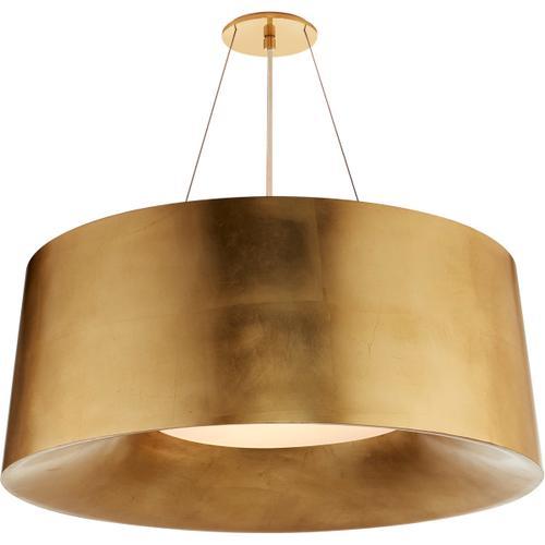 Visual Comfort - Barbara Barry Halo 3 Light 28 inch Gild Hanging Shade Ceiling Light, Medium