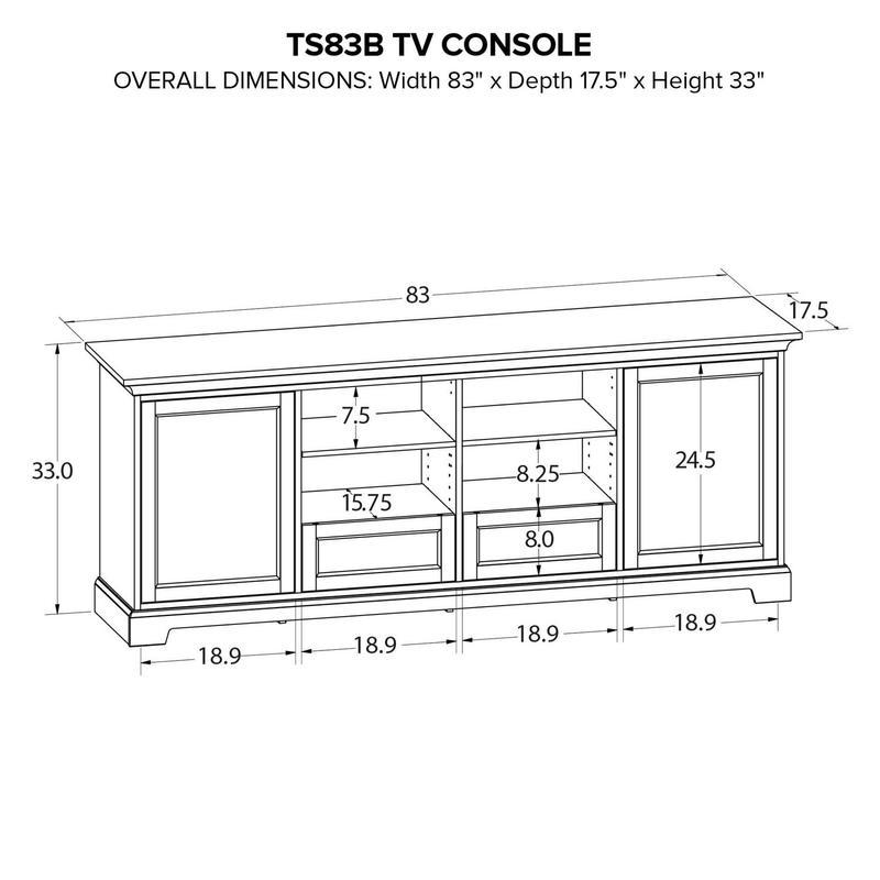 TS83B Custom TV Console