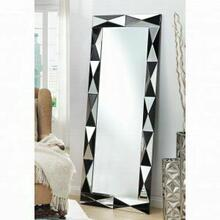 ACME Hare Accent Mirror (Floor) - 97107 - Silver & Black