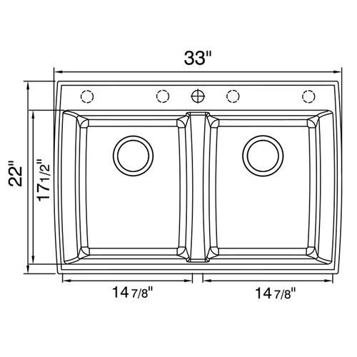 Artisan Manufacturing - Artisan Composite Dual Mount Double Bowl Sink