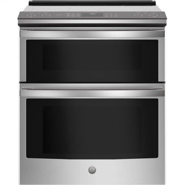 """GE Profile 30"""" Smart Slide-In Electric Double Oven Convection Range"""