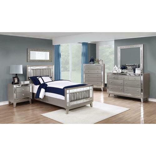 Coaster - Twin 4pc Set (T.BED, Ns, Dr, Mr)