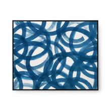 Circe Framed Silk Panel, Navy Blue