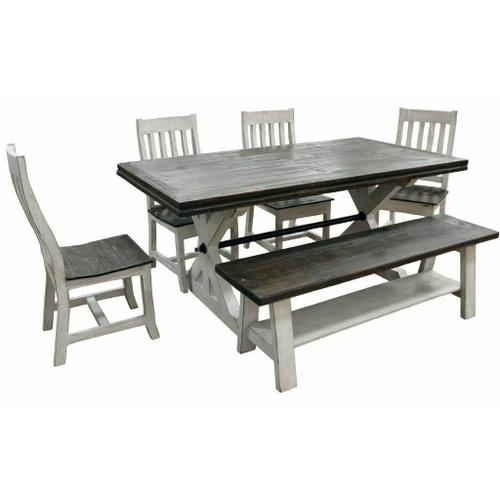 Million Dollar Rustic - Weathered White Springs Dining