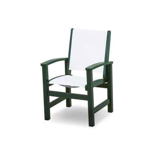 Green & White Coastal Dining Chair