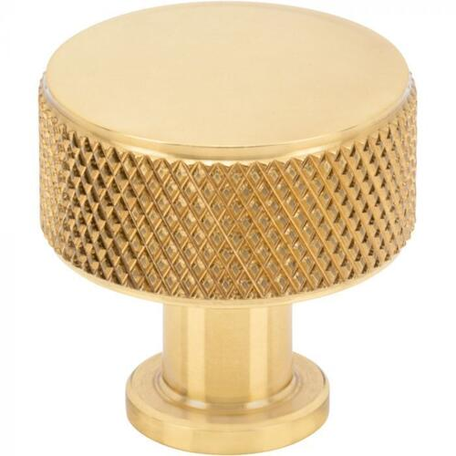 Vesta Fine Hardware - Beliza Cylinder Knurled Knob 15/16 Inch Polished Brass Polished Brass