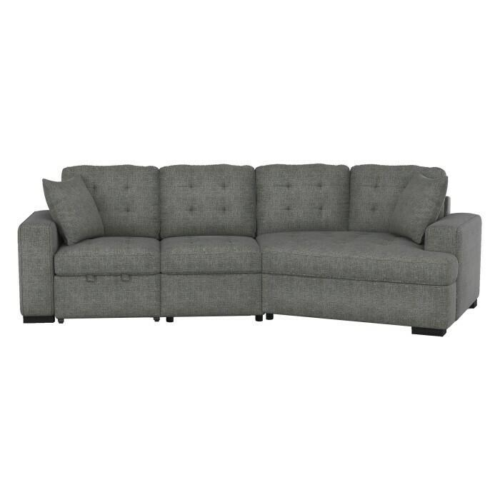 2-Piece Sectional with Pull-out Ottoman