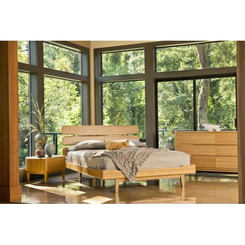 Currant Queen Platform Bed, Caramelized