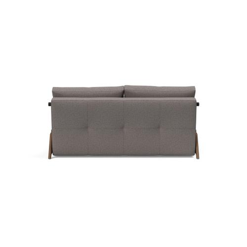 """CUBED 02 DELUXE 63""""X79"""", FRONT/MID SEAT/CUBED 02 DELUXE SOFA BACK, 63""""X79""""/CUBED SOFA LEGS, DARK WOOD,"""