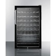 """20"""" Wide Freestanding Wine Cellar With Lock, Digital Thermostat and Towel Bar Handle"""