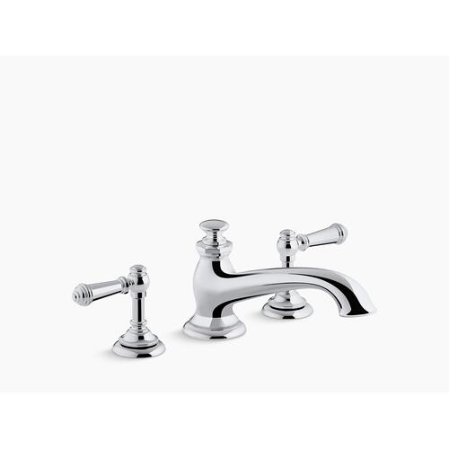 Polished Chrome Deck-mount Bath Spout With Flare Design