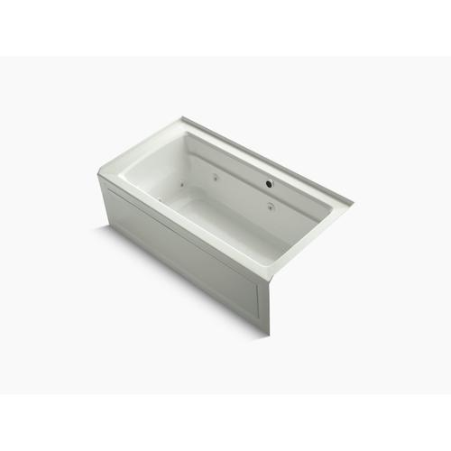 """Dune 60"""" X 32"""" Alcove Whirlpool Bath With Bask Heated Surface, Integral Apron, Integral Flange and Right-hand Drain"""