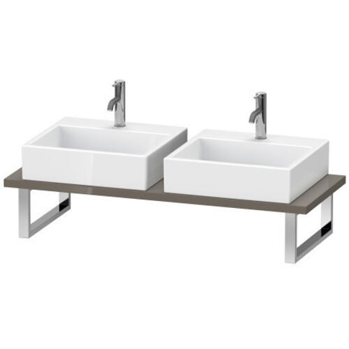 Product Image - Console For Above-counter Basin And Vanity Basin, Flannel Gray High Gloss (lacquer)
