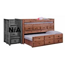 Full Jr. Loft Bed w/Twin Trundle Unit