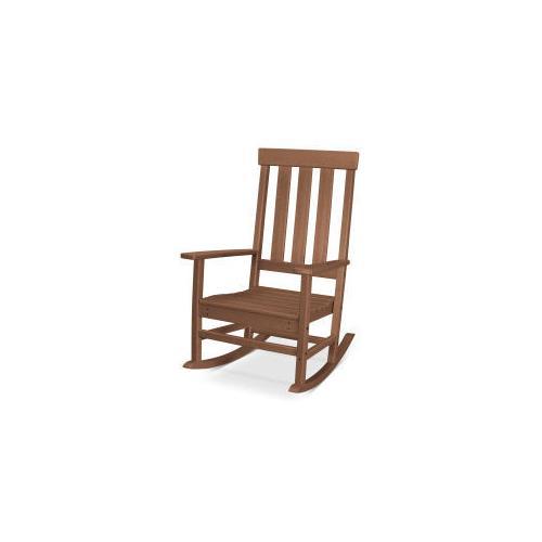 Polywood Furnishings - Prescott Porch Rocking Chair in Teak
