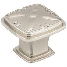 """See Details - 1-3/16"""" Overall Length Detailed Square Milan 2 Cabinet Knob"""