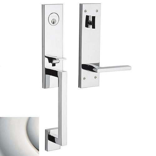 Polished Nickel with Lifetime Finish Minneapolis 3/4 Escutcheon Handleset