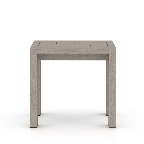 Weathered Grey Finish Caro Outdoor End Table