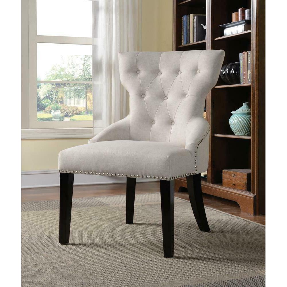 Casual Cream Accent Chair