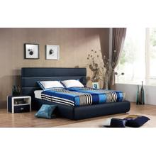 Modrest 2102 Modern Blue & White Bonded Leather Bed