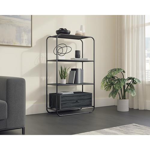 Sauder - Modern Open Shelf Bookcase with Drawer
