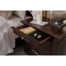 Brynhurst Three Drawer Night Stand Dark Brown