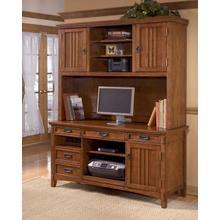 See Details - Cross Island - Medium Brown 2 Piece Home Office Set