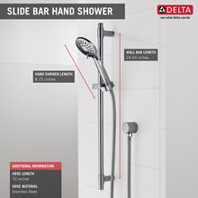 Chrome Hand Shower 1.75 GPM w/Slide Bar 4S