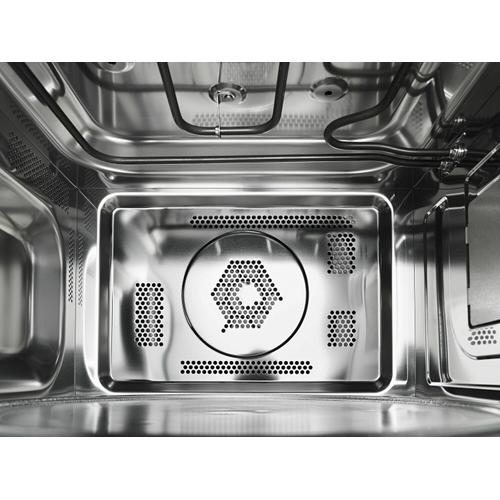 """KitchenAid - 21 3/4"""" Countertop Convection Microwave Oven with PrintShield™ Finish - 1000 Watt - Black Stainless Steel with PrintShield™ Finish"""