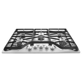 36-inch Wide Gas Cooktop with Power Burner Stainless Steel