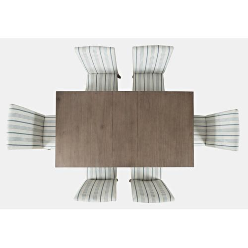 Jofran - Eastern Tides Ext Dining Table W/(6) Uph Chairs