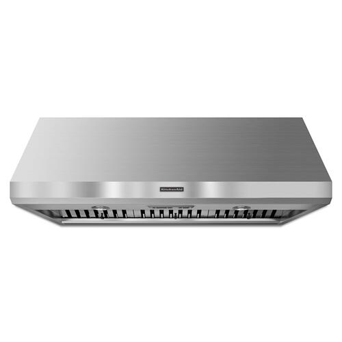 KitchenAid - 48'' Wall-Mount 600-1200 CFM Canopy Hood, Commercial-Style Stainless Steel