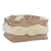 See Details - Meridian Natural/Ivory Pouf 24x24x14