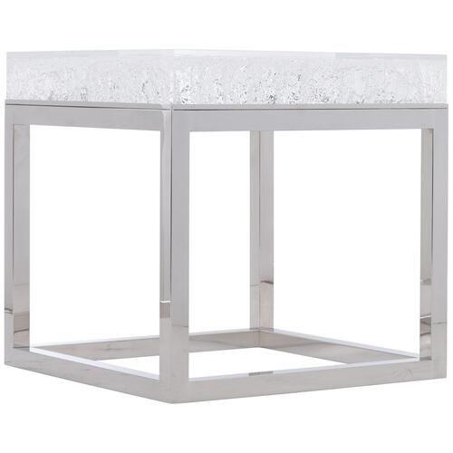 Aventura Square Acrylic End Table