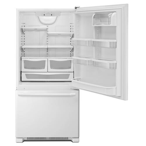 33-Inch Wide Bottom Mount Refrigerator - 22 Cu. Ft. White