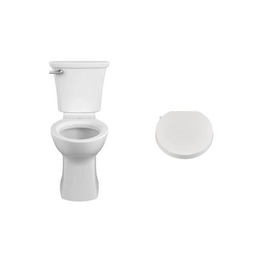 American Standard - Edgemere Elongated Toilet with Aquawash 1.0 Bidet Seat Bundle - White