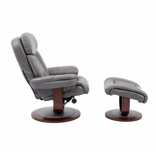 Product Image - PRINCE - ICE Manual Reclining Swivel Chair and Ottoman