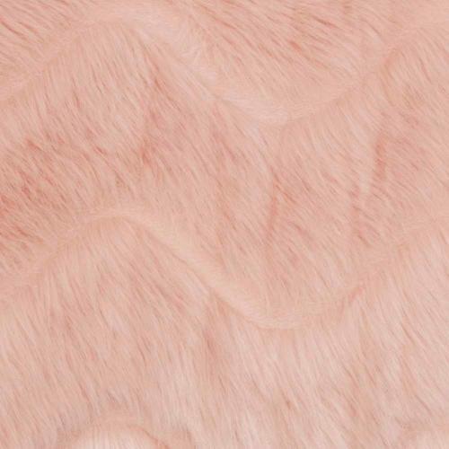"Faux Fur Vv056 Blush 14"" X 20"" Lumbar Pillow"