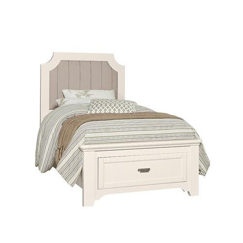 Lm Co. Home - Upholstered Storage Bed Twin & Full