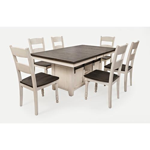 Madison County High/low Table With 6 Chairs - Vintage White
