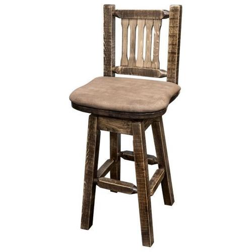 Montana Woodworks - Homestead Collection Swivel Barstool, Stain and Lacquer Finish