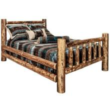 Glacier Country Collection Spindle Style Log Beds