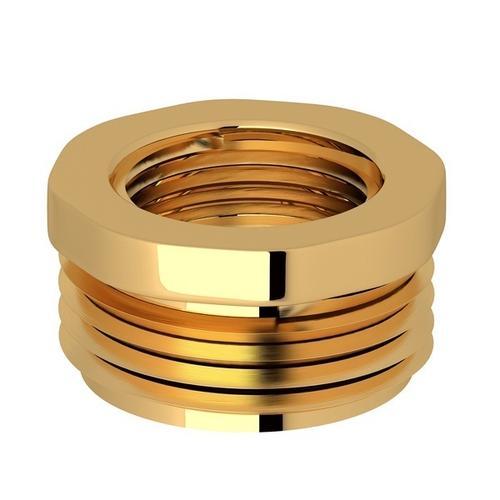 """English Gold Perrin & Rowe 3/4""""M X 1/2""""F Adaptor"""