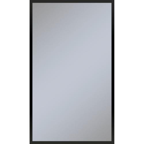 "Profiles 23-1/8"" X 39-1/4"" X 3/4"" Framed Mirror In Matte Black"