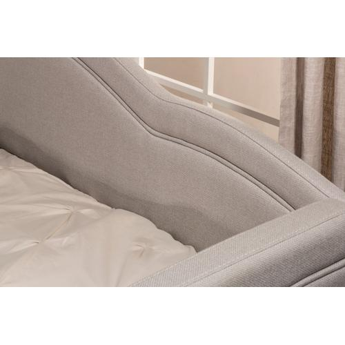 Jasmine Complete Twin Size Daybed, Dove Gray Fabric