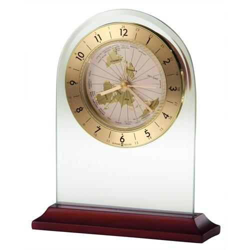 Howard Miller World Time Arch Brass Table Clock 645603